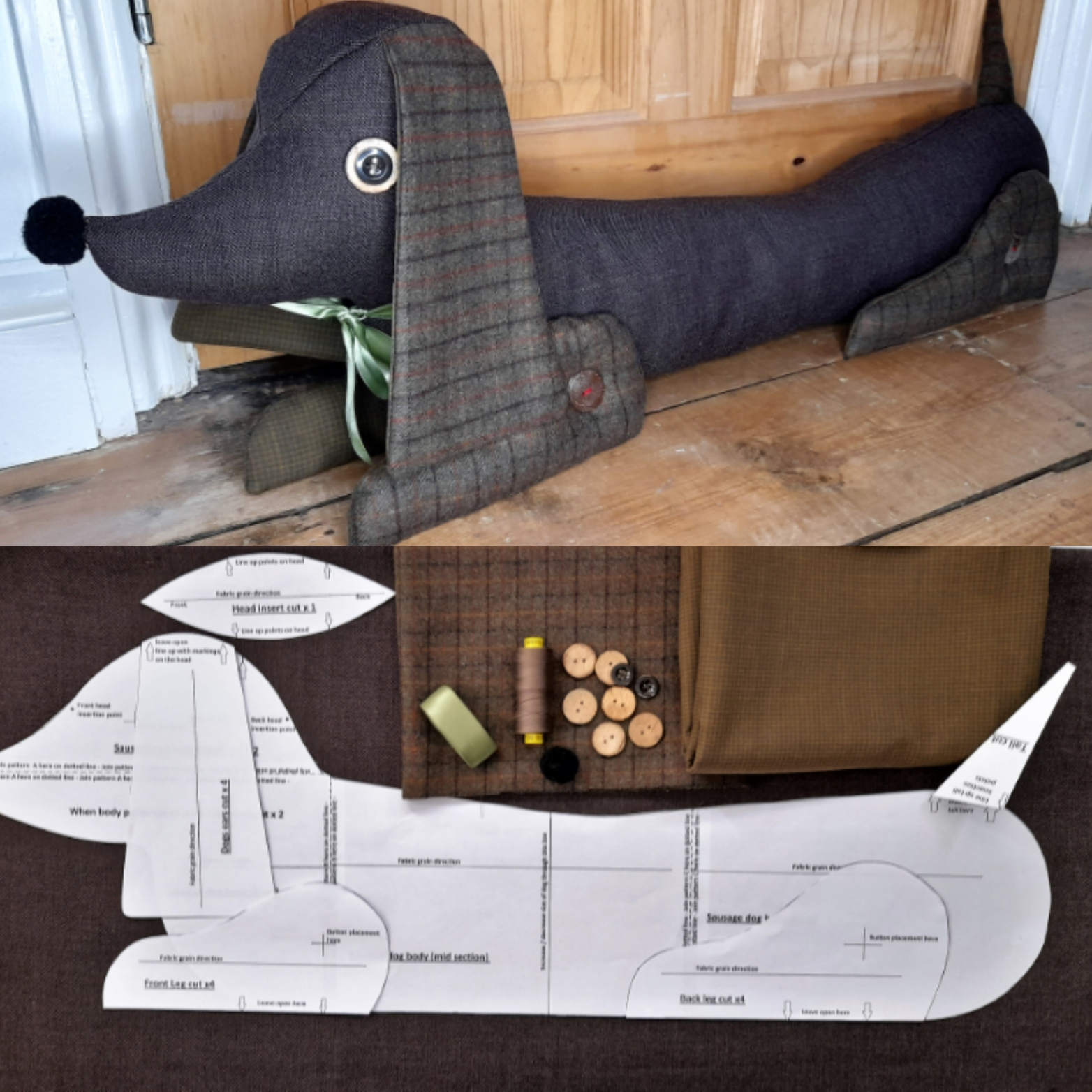 How to make Chipolata - the Sausage Dog draft excluder.