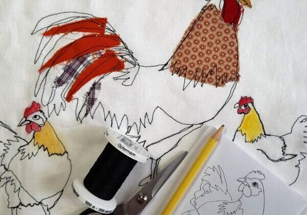 """""""How to"""" Draw with Free-Motion Embroidery"""